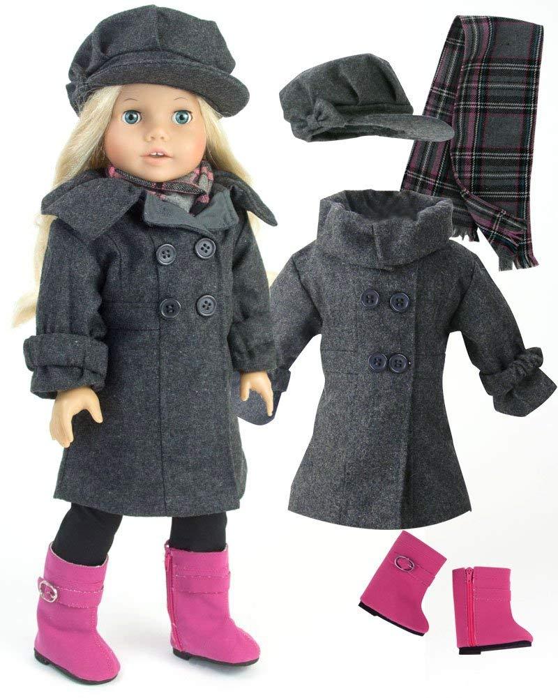 American Girl Doll Clothes, Dress Coat Set