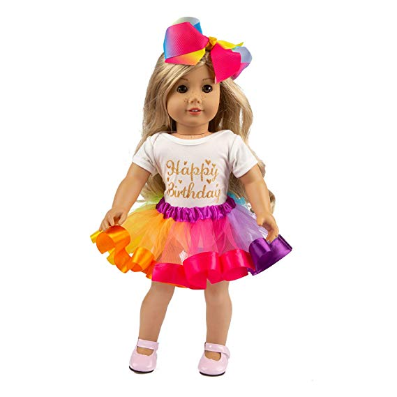 American Girl Doll Clothes Rainbow Tutu