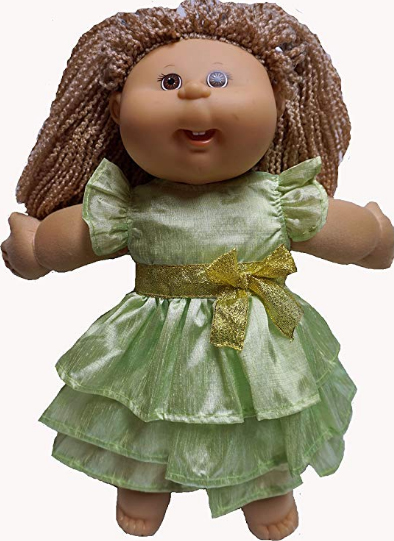 Cabbage Patch Doll Clothes Green Dress