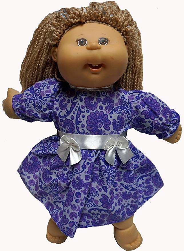 Cabbage Patch Doll Clothes Lavender and Purple Dress