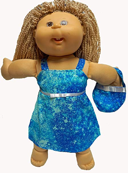 Cabbage Patch Kid Blue Splash Dress