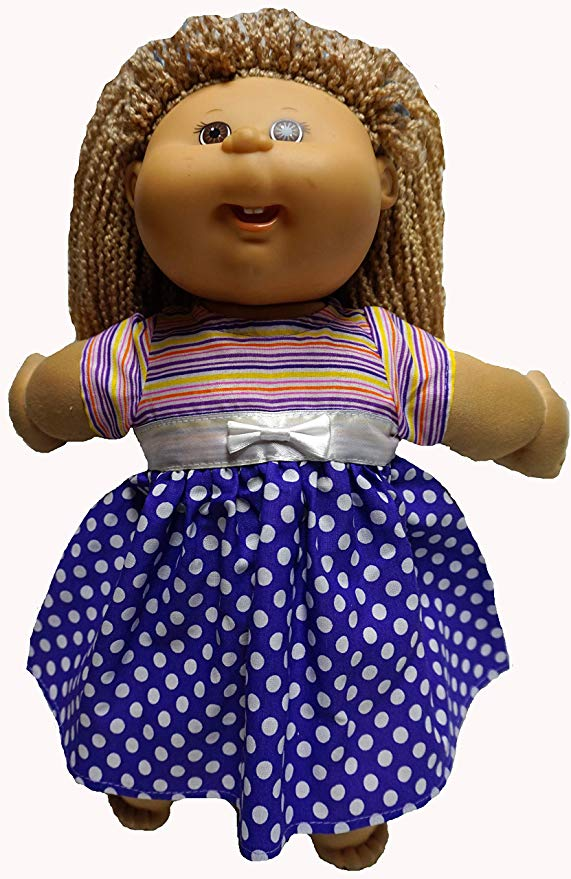 Cabbage Patch Doll Clothes Stripes and Dots Dress
