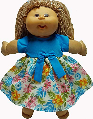 Blue bodice dress for Cabbage Patch  Kid doll