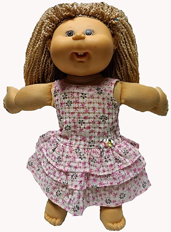 Cabbage Patch Doll Clothes Pink Dress