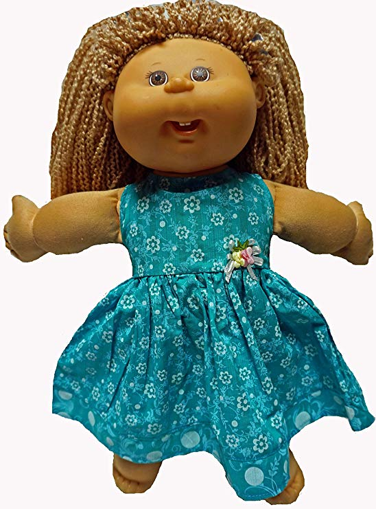 Cabbage Patch Doll Clothes Sea Green Dress