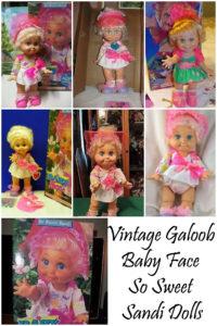 Vintage Galoob Baby Face So Sweet Sandi Dolls