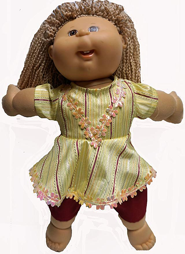 Cabbage Patch Doll Clothe yellow Dress